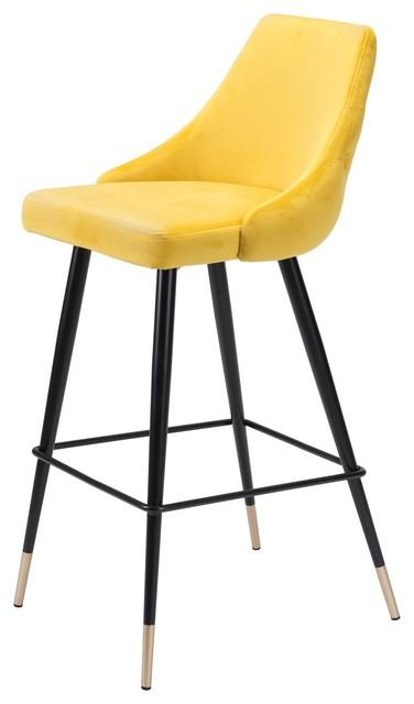 Amazing Modern Contemporary Bar Stool Chair Barstool Yellow Velvet Stainless Steel Forskolin Free Trial Chair Design Images Forskolin Free Trialorg
