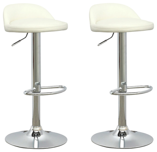 Low Profile Adjustable Bar Stools Set of 2 White  : modern bar stools and counter stools from www.houzz.com size 640 x 618 jpeg 43kB