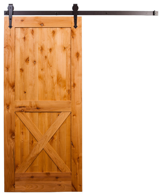 Half-X Barn Door With Arrow Hardware