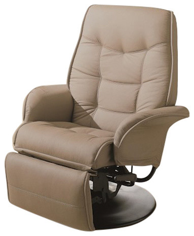 Berri Swivel Recliner With Flared Arms Contemporary