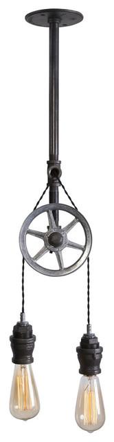 Single Steel Wheel Pulley Light.