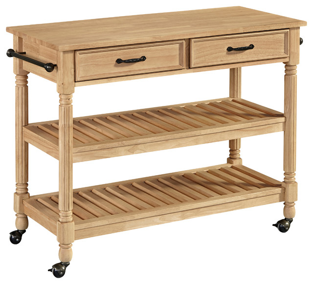 Home Styles Savannah Kitchen Cart in Natural Maple