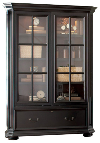 Riverside Allegro Sliding Door Bookcase - Transitional ...