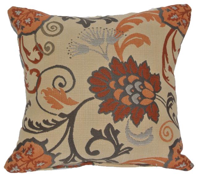Outdoor Sunbrella Throw Pillow, Elegance Marble, 17