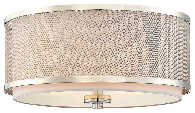Cierra Semi-Flush Mount Light, Polished Nickel.