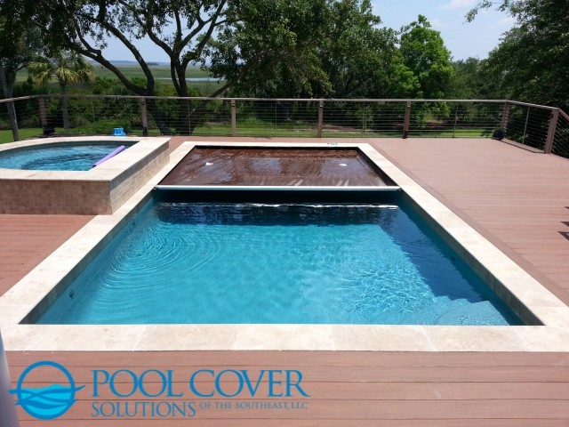 Save Wood Deck Automatic Pool Cover