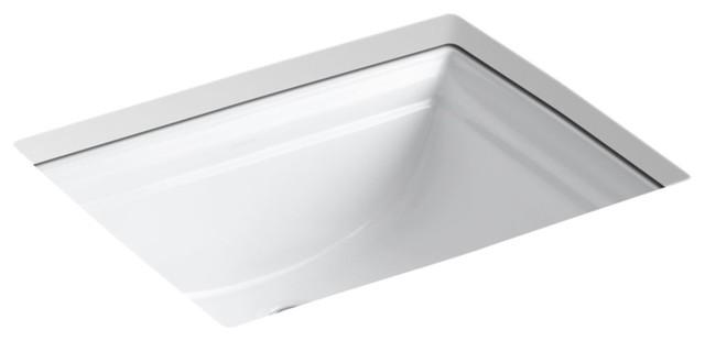 Kohler Memoirs Under-Mount Bathroom Sink, White.