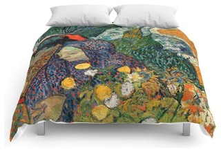 Memory Of The Garden At Etten By Vincent Van Gogh Comforter Contemporary Comforters And