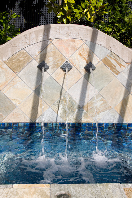 Rosette Spouts Traditional Pool Vancouver By Alka