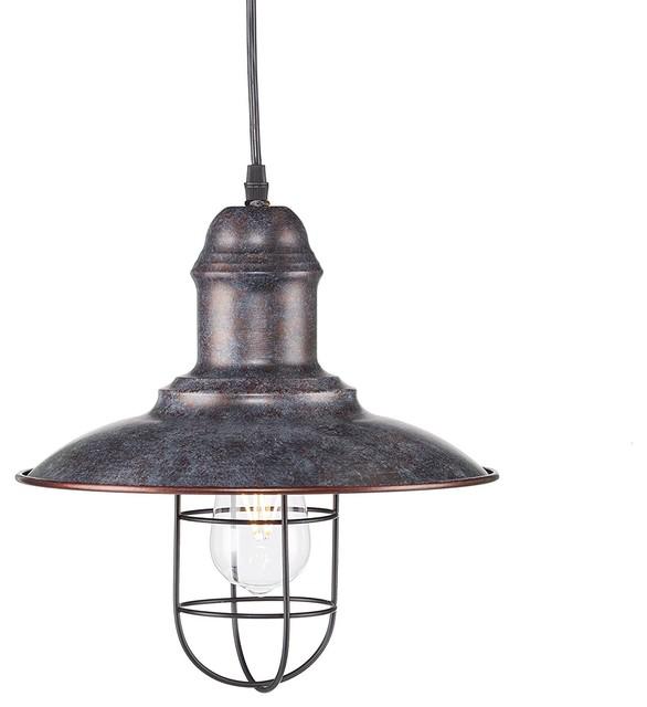 Industrial Bell Pendant Light: Alzette Industrial Bell Pendant Lamp