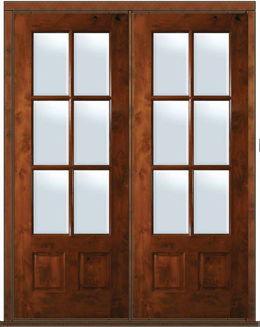 prehung french double door 96 alder 3 4 lite 6 lite tdl