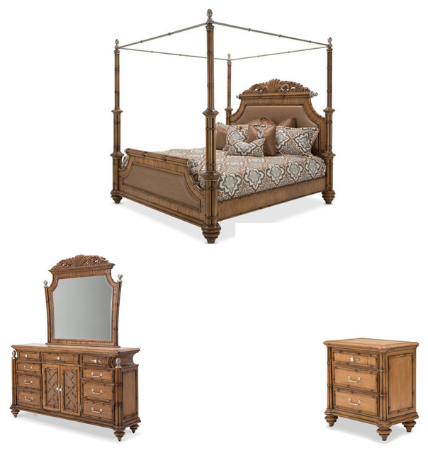 excursions 4 piece canopy bedroom set traditional