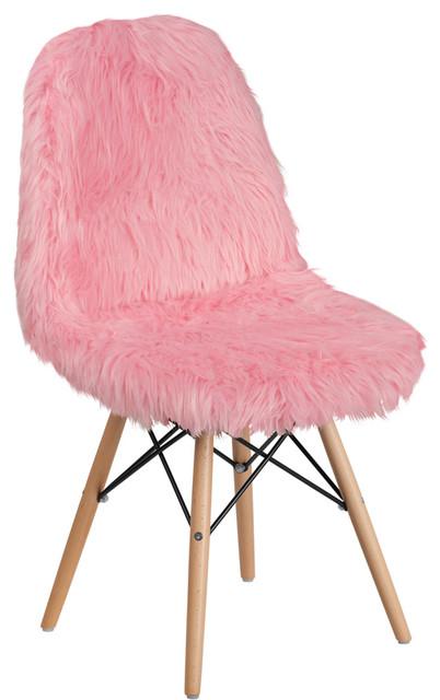 Terrific Shaggy Dog Accent Chair Light Pink Machost Co Dining Chair Design Ideas Machostcouk