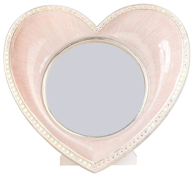 Jay Strongwater Chantal Heart Frame Pale Pink Finish - Contemporary ...