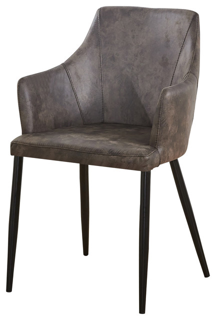 Zarah Chair Dining Chair, Dark Grey