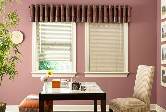 Home office window treatment ideas for Office window ideas