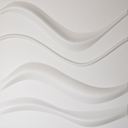 Easy Peel & Stick 3D Wall Panel, Gapless Wave Design, 12 Panels, 32 ...