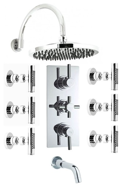 Complete Shower System Chrome With 12\