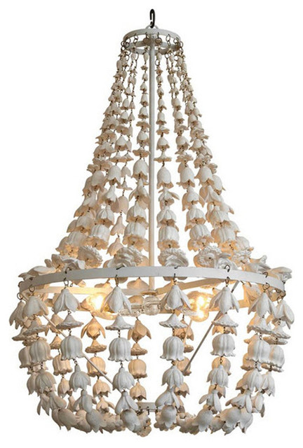 Flower Drop Chandelier - 25 inch diam.