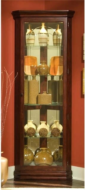 72 in. Corner Curio Cabinet - Traditional - China Cabinets And Hutches - by ShopLadder
