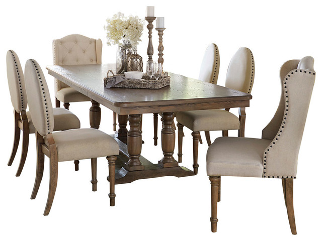 Magnificent Axis 7 Piece Dining Set With Side And Arm Chairs Evergreenethics Interior Chair Design Evergreenethicsorg