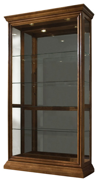 Pulaski Eden House 2-Way Sliding Door Curio - Contemporary ...