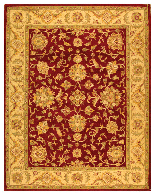 Safavieh antiquities at312c red gold rug area rugs by for Red and gold area rugs