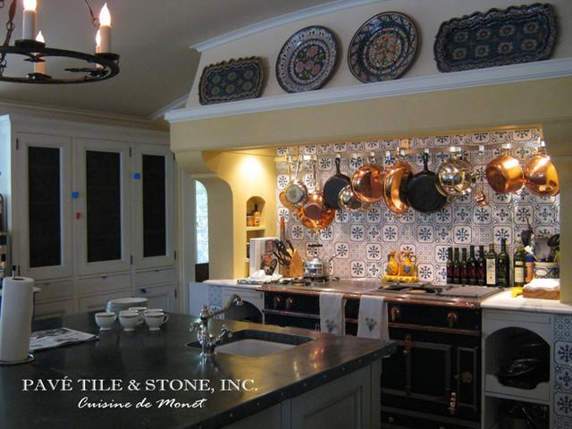 Cuisine De Monet Blue And White Decorative Wall Tile