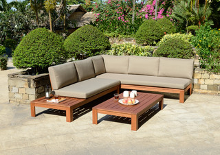 Miami Wooden Garden Lounge Set With Cushions