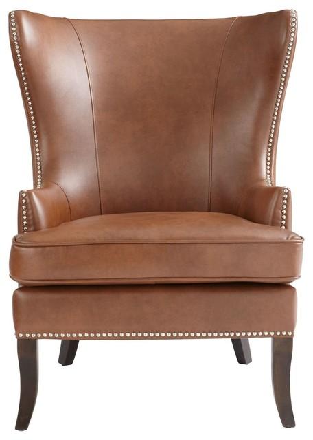 Groovy Sunpan 5West Royalton Armchair Cognac Leather Spiritservingveterans Wood Chair Design Ideas Spiritservingveteransorg