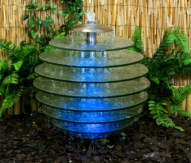 Arcadia Glass Tree Water Feature Large 47cm Height : contemporary garden water features from www.houzz.co.uk size 640 x 544 jpeg 183kB