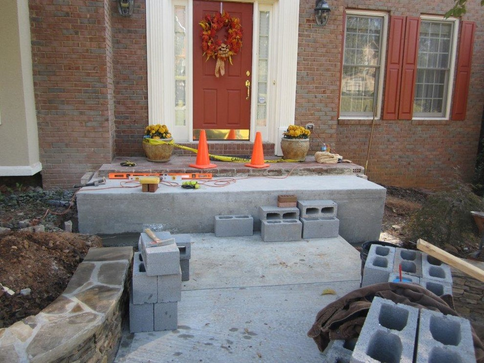 Brick patio and stairs, installing
