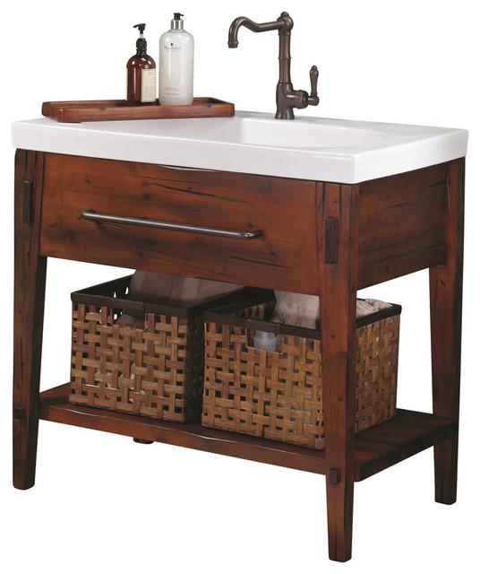 """Bathroom Vanities Portland Or ronbow portland solid wood 36"""" vanity set with ceramic sink top"""
