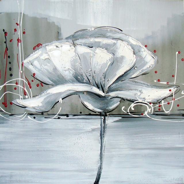 Winter Flower I Oil Painting.