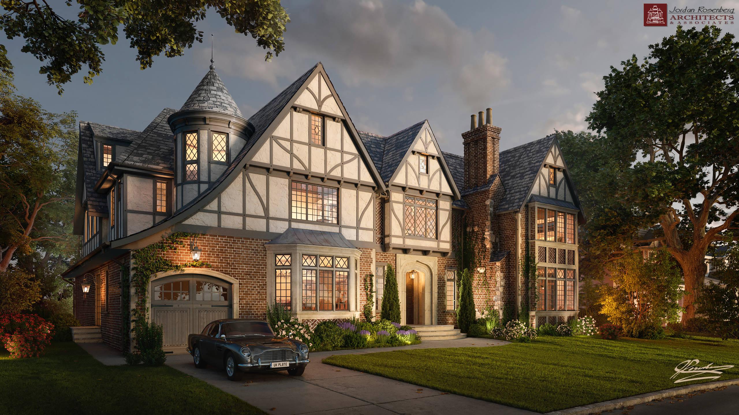 New Tudor Mansion In Long Island NY