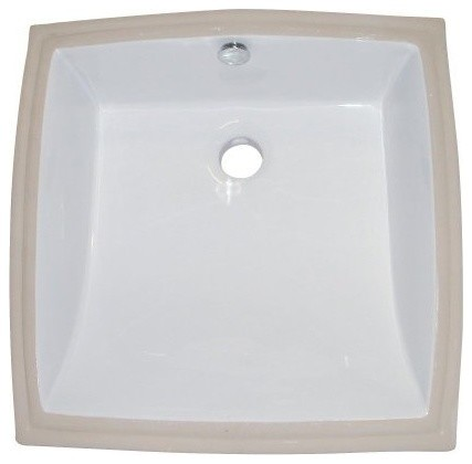Kingston brass kingston brass white china undermount bathroom sink with overflow hole for Contemporary undermount bathroom sinks
