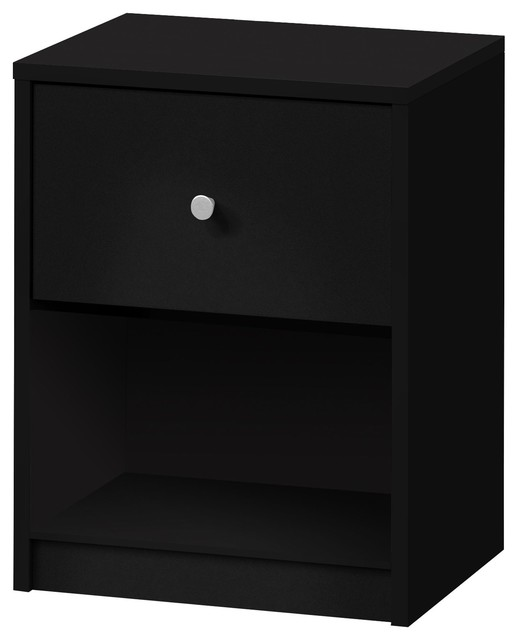 june table de chevet noir 1 tiroir moderne table de. Black Bedroom Furniture Sets. Home Design Ideas