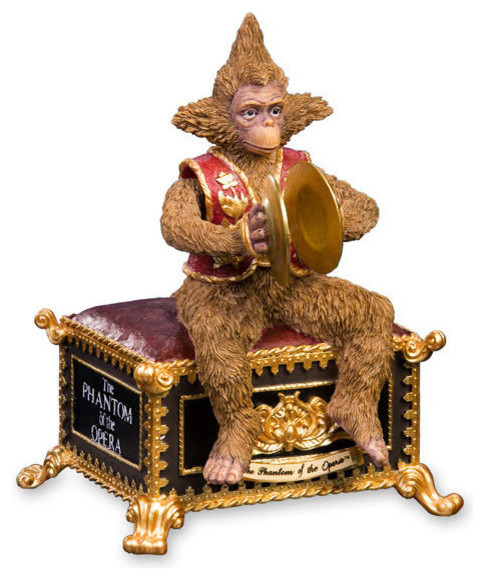 Decorative Objects For The Home: Phantom Of The Opera Animated Monkey Musical Figurine