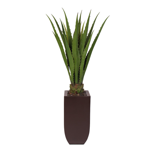 Artificial cactus plant in a tall metal container contemporary artificial plants and trees - Nature curiosity stressed out plants emit animal like signals ...