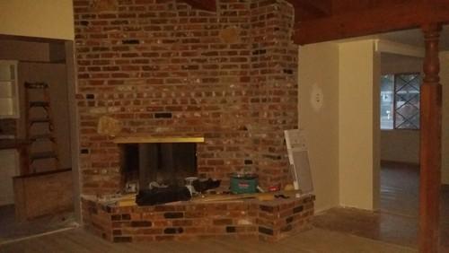 large brick fireplace dilemma