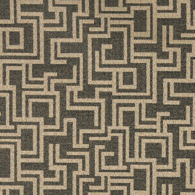 Black And Brown Geometric Outdoor Indoor Marine Upholstery Fabric By The Yard Contemporary Palazzo Fabrics