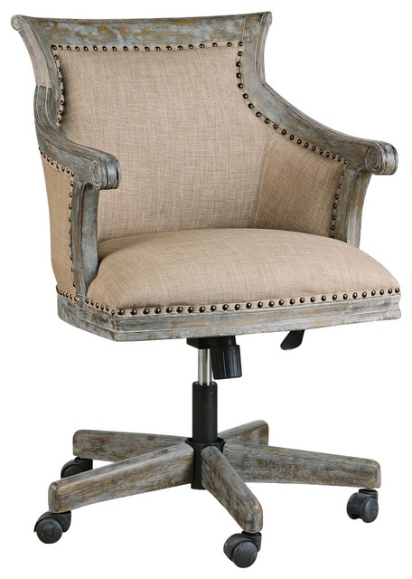 Uttermost Kimalina Linen Accent Chair Farmhouse