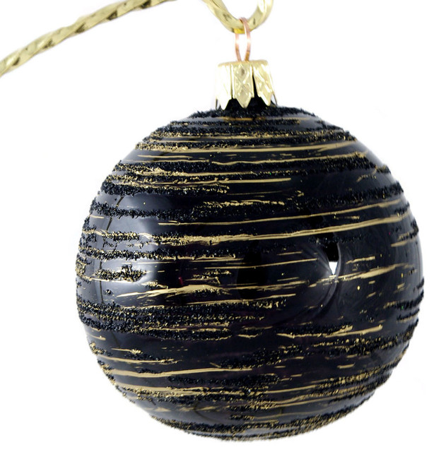Black and Gold Ball No1 Traditional Christmas  : traditional christmas ornaments from www.houzz.com size 614 x 640 jpeg 109kB