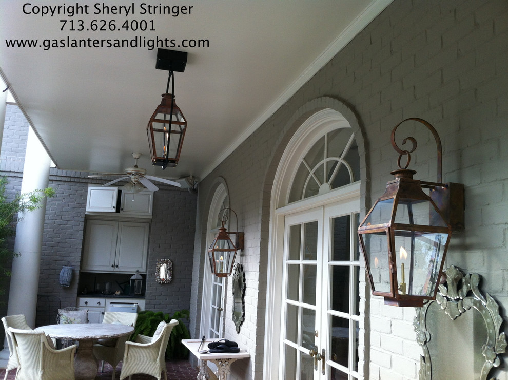 Sheryl;s French Lanterns with Glass Tops