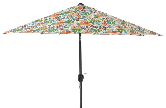 Lensing Jungle 9&x27; Patio Market Umbrella, Off-White.