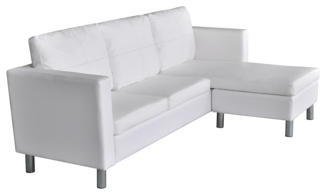 Vidaxl Sectional Sofa 3 Seater Artificial Leather White Home Couch Seating