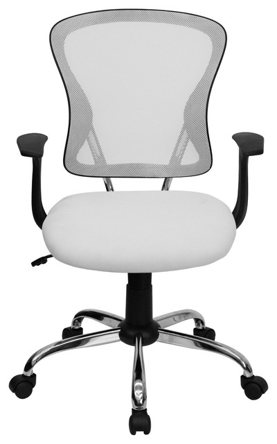 Admirable Marlon Adjustable Swivel Office Chair White Andrewgaddart Wooden Chair Designs For Living Room Andrewgaddartcom