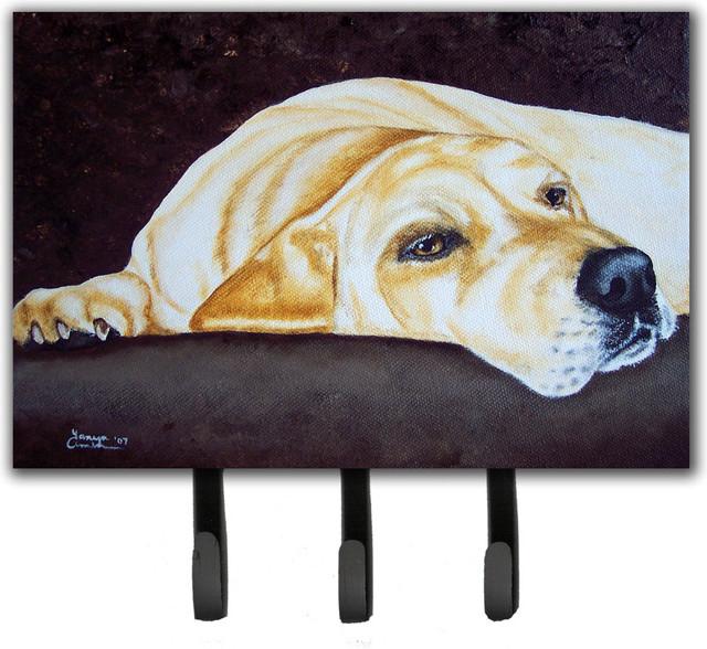 Naptime Yellow Labrador Leash/key Holder.