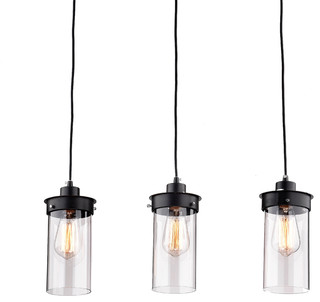 the first lighting eden 3 light kitchen island pendant kitchen island lighting - Black Kitchen Lights