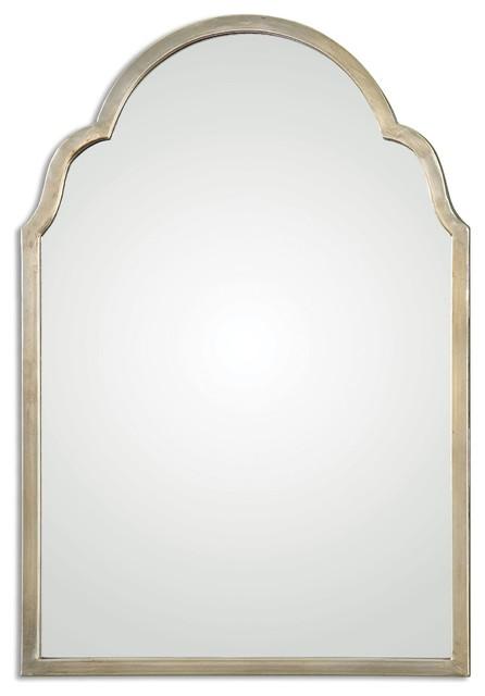 Brayden Petite Silver Arched Mirror.
